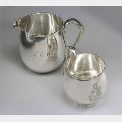 Arthur Stone Sterling Silver Pitcher and Mug