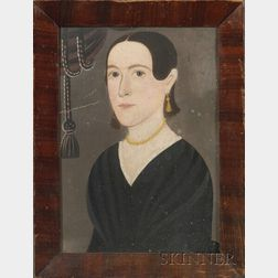 Attributed to Sturtevant Hamblin, 19th Century    Portrait of a Lady.