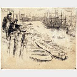 James Abbott McNeill Whistler (American, 1834-1903)      The Little Pool