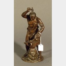 Adrien-Etienne Gaudez (French, 1845-1902)      Bronze Figure of a Blacksmith, 20th century
