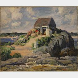 Edmund Franklin Ward (American, 1892-1991)      The Lobster Shed Along the Shore