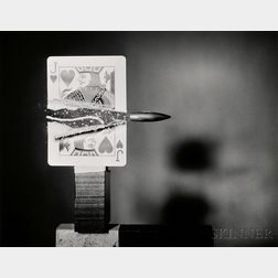 Harold Eugene Edgerton (American, 1903-1990)      Cutting the Card Quickly