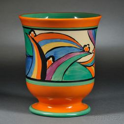 Clarice Cliff Comet 5   Pedestal Vase