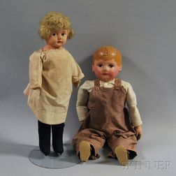 Two Papier-mache Dolls