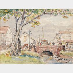 Reynolds Beal (American, 1866-1951)      A Demerara Canal