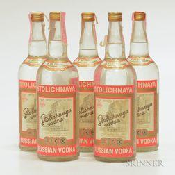 Stolichnaya Vodka, 5 quart bottles