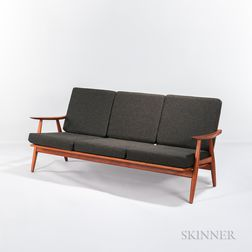 Hans J. Wegner for Getama Model GE-240 Three-seat Sofa