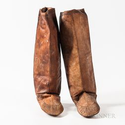 Pair of Eskimo Sealskin High-top Boots