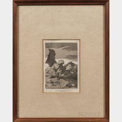 Francisco José de Goya y Lucientes (Spanish, 1746-1828)      Two Framed Prints:  Se Repulen