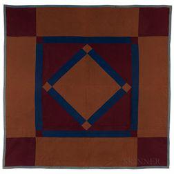 Amish Diamond and Square Quilt