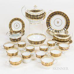 Chamberlain Worcester Porcelain Dessert Service for Six