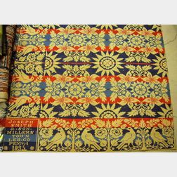 Three-Color Woven Half-Coverlet