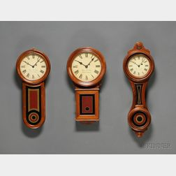 Three Miniature E. Howard Wall Clocks by Wayne R. Cline