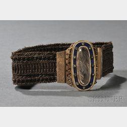 10kt Gold and Hairwork Bracelet