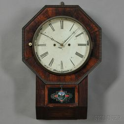 Atkins Clock Co. Thirty-day Wagon Spring Wall Clock