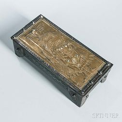 Arts and Crafts Mixed-metal Box