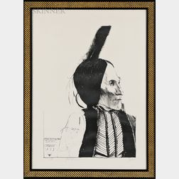 Leonard Baskin (American, 1922-2000)      Chief White Man/Kiowa