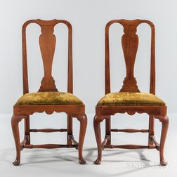 Pair of Queen Anne Side Chairs