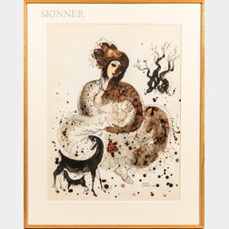 Two Framed 1960s-era Lithographs:      Reuven Rubin (Israeli, 1893-1974), Camel Rider