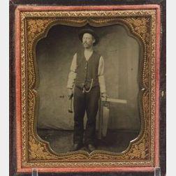 Tintype of a Carpenter