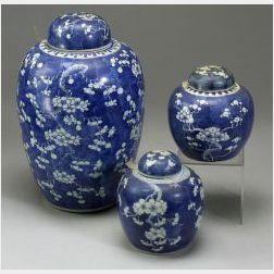 Three Covered Jars