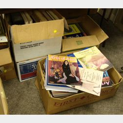 Ten Boxes of Asian Art and Culture Related Reference Books and Magazines.