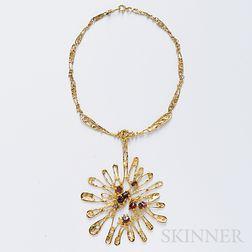 22kt Gold Pendant Necklace