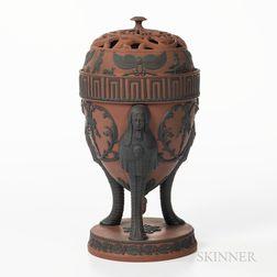 Spode Rosso Antico Incense Burner