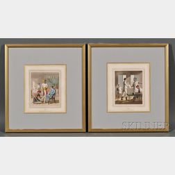 Group of Twenty Small Framed British Colonial-themed Book Plates