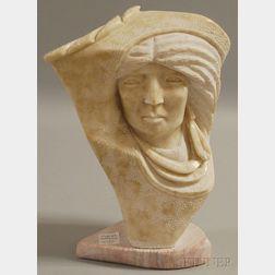 Marilyn Howard Holly (Navajo, 20th Century)      Bust of a Woman.
