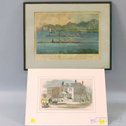 Two Hand-colored Lithographs