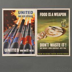 Eleven WWII War Bond Posters