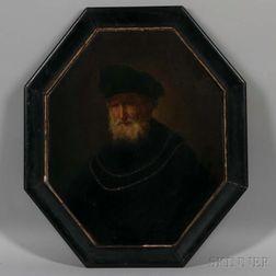 After a Follower of Rembrandt van Rijn (Dutch, 1606-1669)      Bust of Man Wearing a Gold Chain