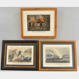 Three Framed Currier & Ives Engravings