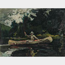 Arthur Clifton Goodwin (American, 1866-1929)      North Woods (After Winslow Homer)