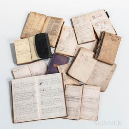 Eleven 19th Century Gurley Day Books or Ledgers