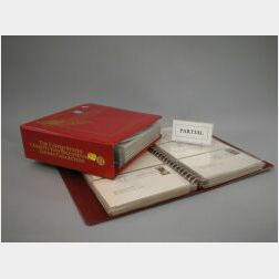 Seven Volumes of United States Philatelic Souvenir Page Collection