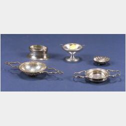 Five Small Silver Table Articles