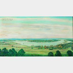 Walter Emerson Baum (American, 1884-1956)      Panoramic River View