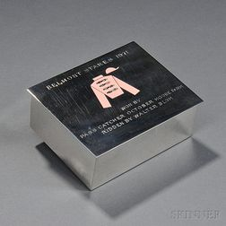 Tiffany & Co. Sterling Silver and Enamel Cigarette Box