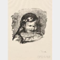 Pierre-Auguste Renoir (French, 1841-1919)      Claude Renoir, la tête baisée