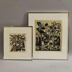 Two Stencil Prints