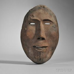 Inupiaq Carved Wood Mask