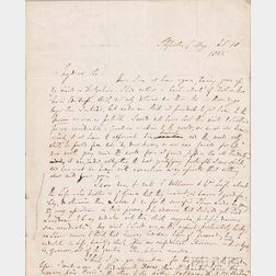 Moore, Thomas (1779-1852) Two Autograph Letters Signed, 1824 and 1825.