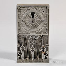 French 16th Century Steel Masterpiece or Compagnon Lock