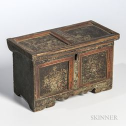 Miniature Painted Paneled Box