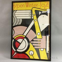Roy Lichtenstein Aspen Winter Jazz Festival   Lithograph