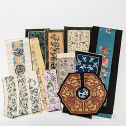 Group of Embroidered Sleeve Bands and a Collar