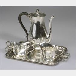 Cellini Craft Sterling Silver Four-Piece Tea Set