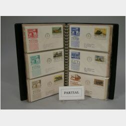 Thirteen Volumes of United States First Day Covers